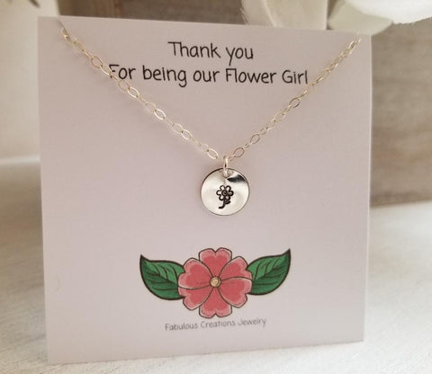 Flower Girl Necklace, Gift for Flower Girls