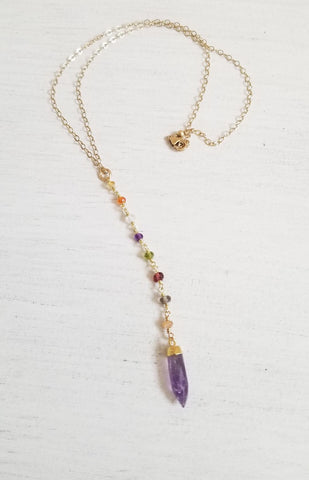 handmade gemstone necklace, Christmas gift, gift for wife, Birthday gift idea