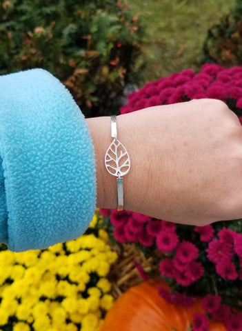 stacking bracelets, sterling silver bangle, Fall wedding
