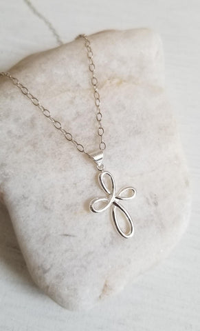 Infinity Cross Necklace, gift for sister
