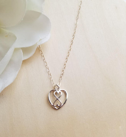 sterling silver necklace, gift for sister, sorority sister, sisterhood, infinity necklace, Fabulous Creations Jewelry