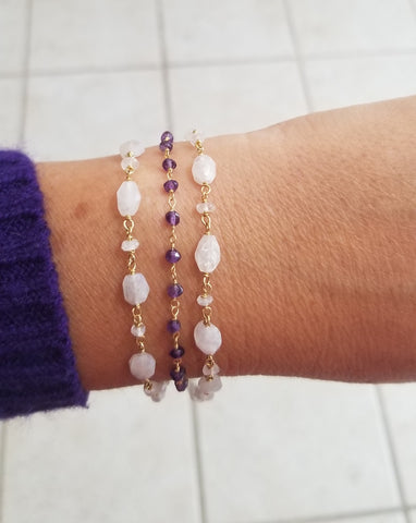 Amethyst Bracelet, Simple Everyday Bracelet