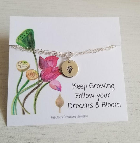 Flower Charm Bracelet, Gift Idea for Her