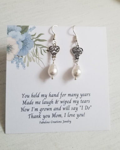 Gift for Mothers, Wedding Earrings