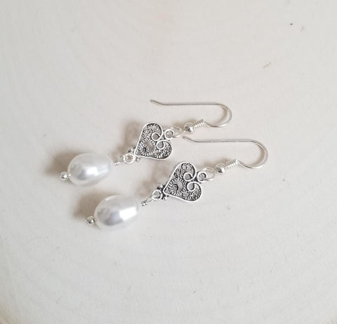 Teardrop Pearl Earrings for wedding