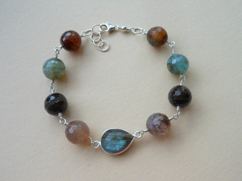 Tourmaline and Labradorite Bracelet