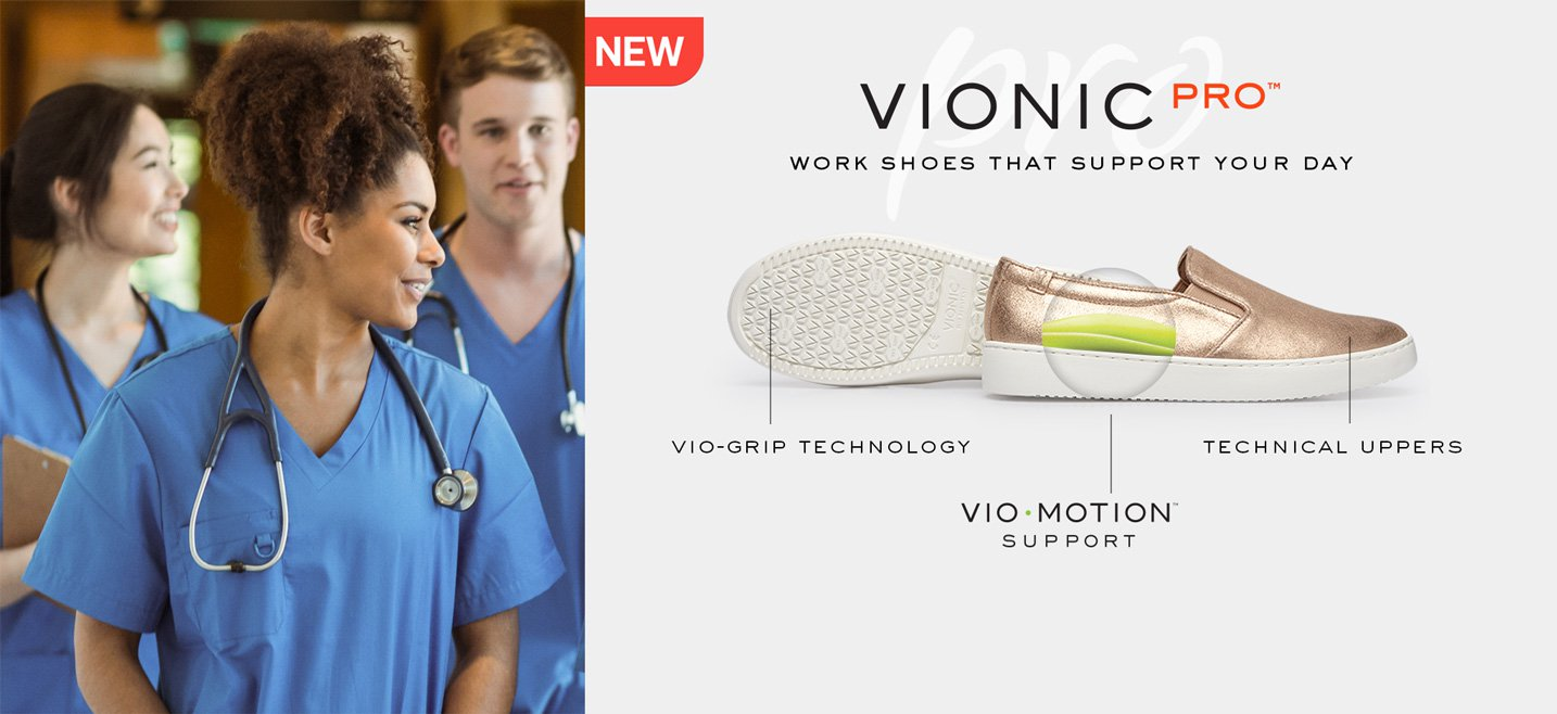 Vionic Pro - Work shoes that support your day