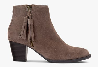 Shop Madeline Boot in Greige Suede