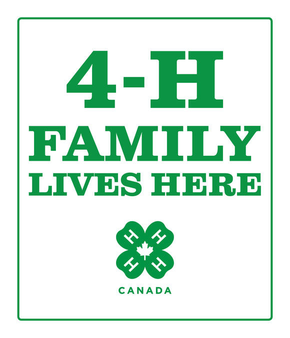 4-H Family Lives Here Sign