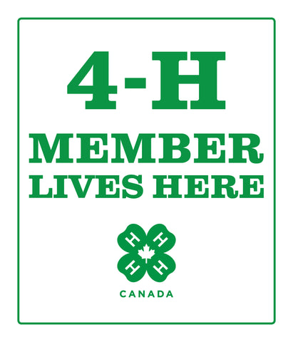 4-H Member Lives Here Sign
