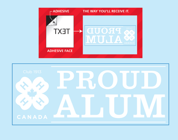 Proud Alum Window Decal