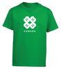 T-SHIRT - YOUTH GREEN AND WHITE