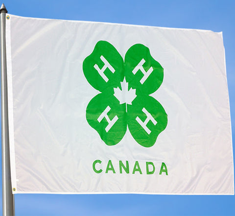 4-H CANADA FLAG - LARGE