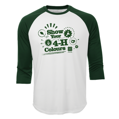 2019 Exclusive Show Your 4-H Colours Baseball Tee