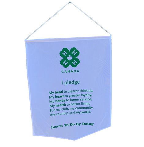 4-H Pledge Banner (English)