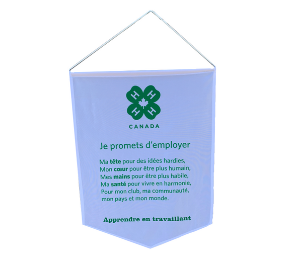 4-H Pledge Banner (French)
