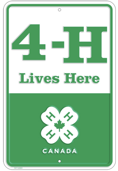 4-H LIVES HERE SIGN