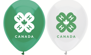 4-H Balloons (20 pack, green and white)