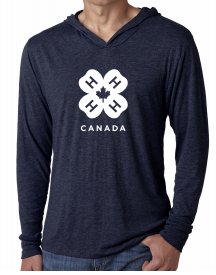 Tri-blend Long-sleeved Hoodie