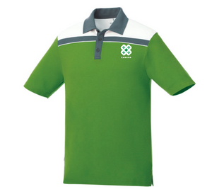 Men's Green and White Polo
