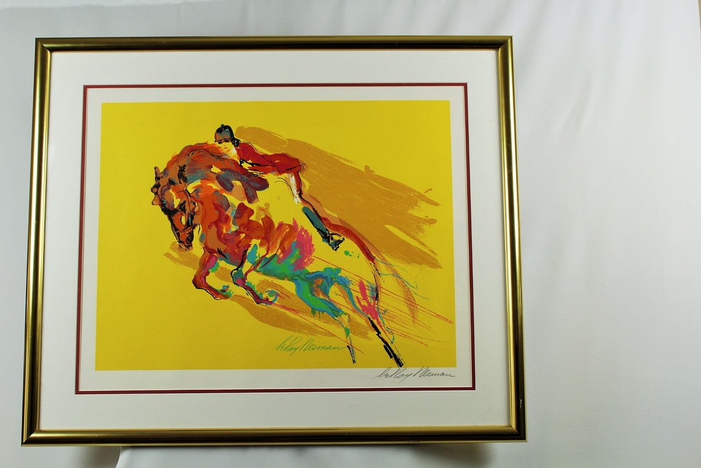 "Leroy Neiman Signed Serigraph, ""Show Jumper"""