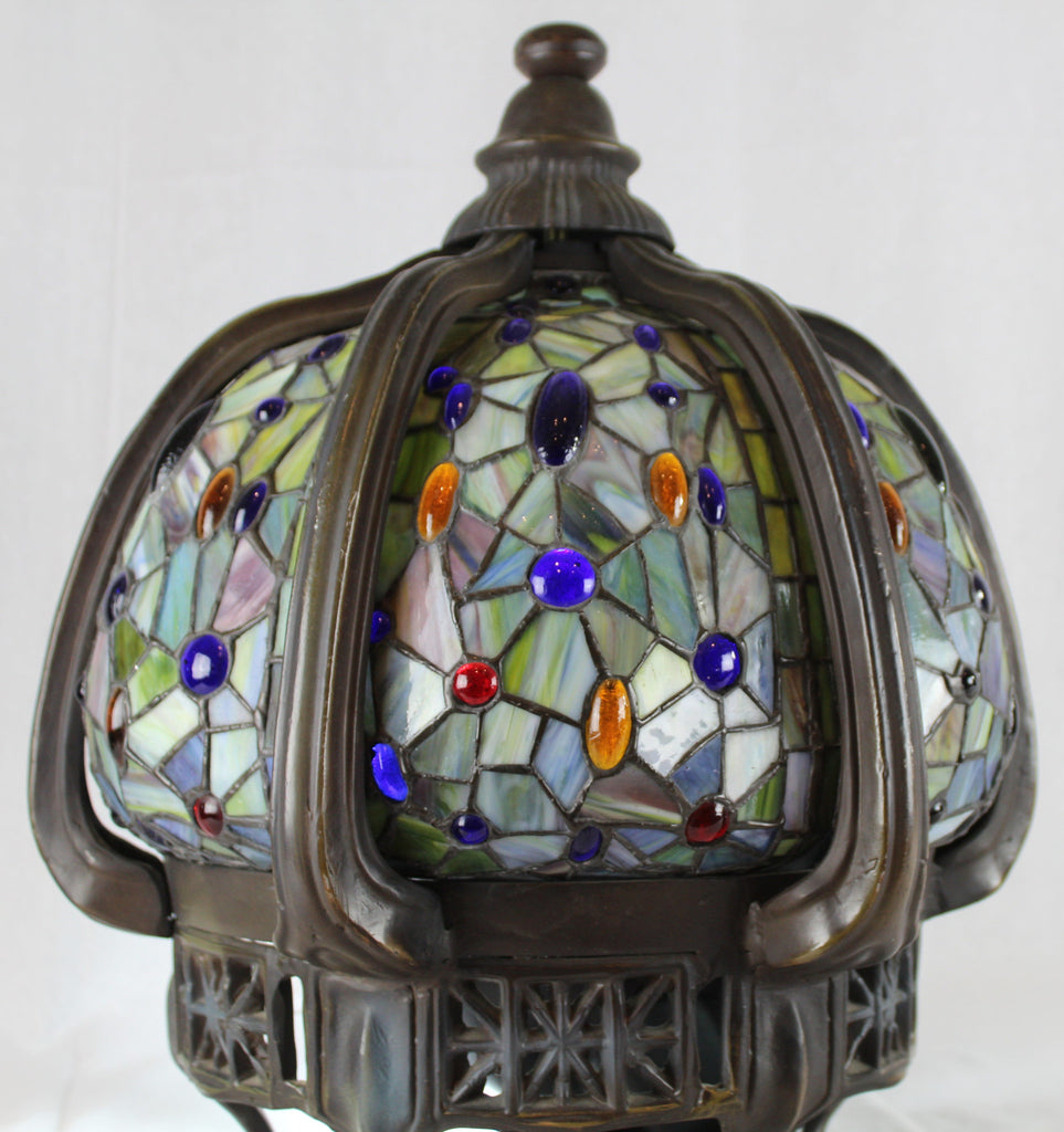 Late 19th Century Foyer or Entry Ceiling Globe Lead Glass Incredible SOLD
