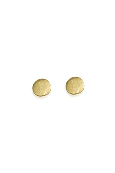 Dot Stud Earrings / Solid 14K Gold