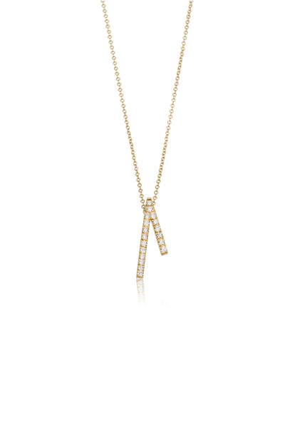 Alba necklace / pave diamond necklace