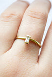 Charlotte Ring / Baguette diamond ring