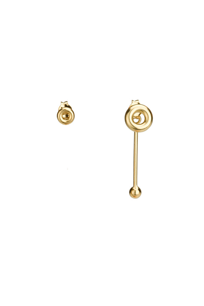 Skyler Earrings / gold plated silver