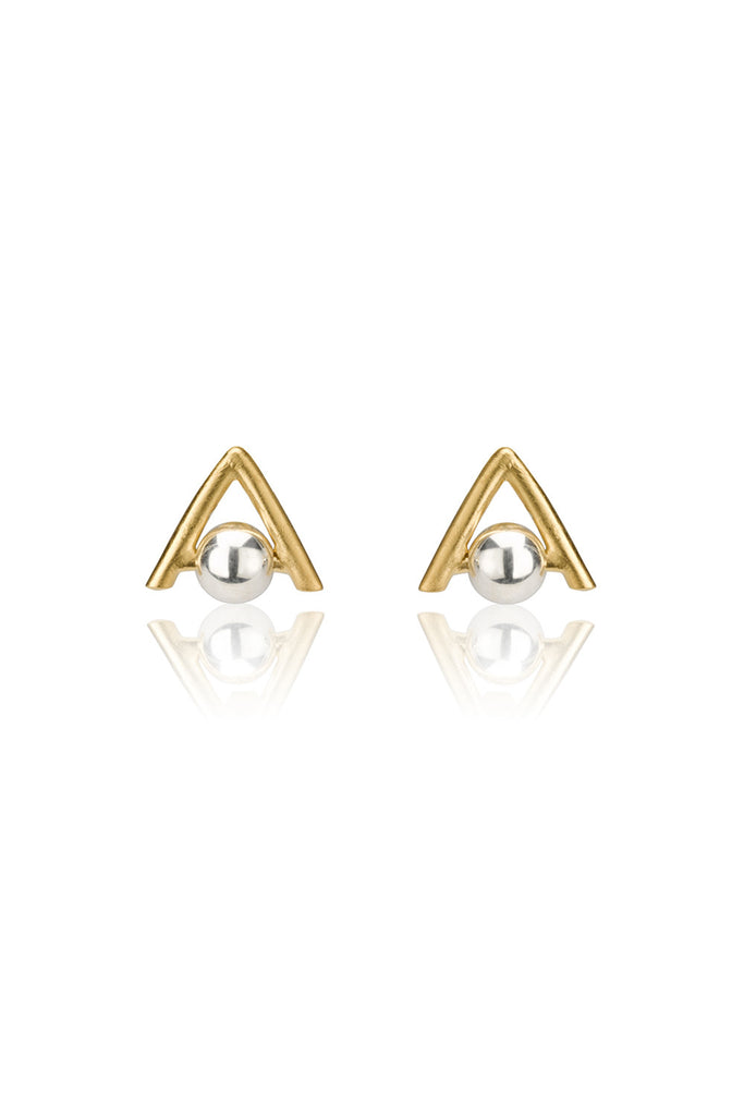 Suzie Earrings / gold plated silver