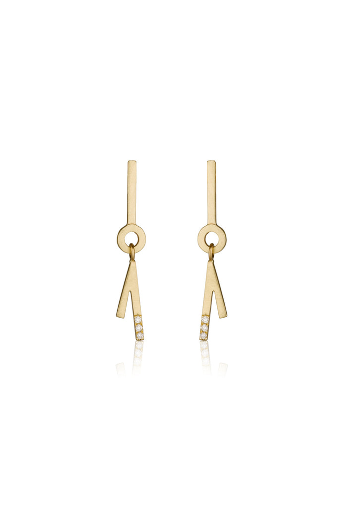 Frieda earrings / Dangling diamond earrings