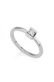 Iris Ring / Princess cut diamond ring