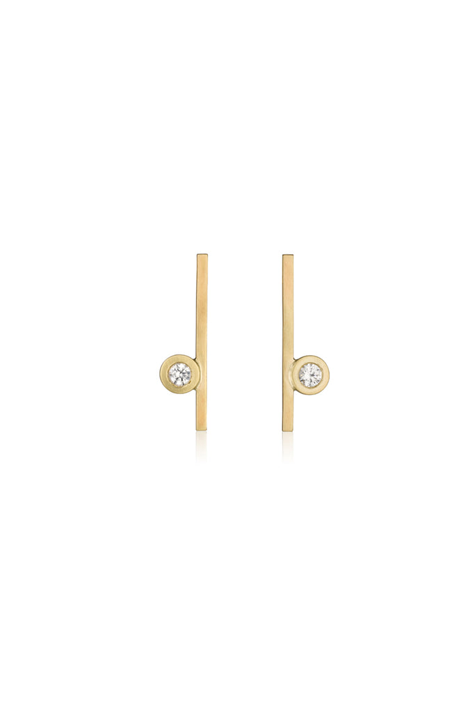 Joan earrings / Bezel setting earrings