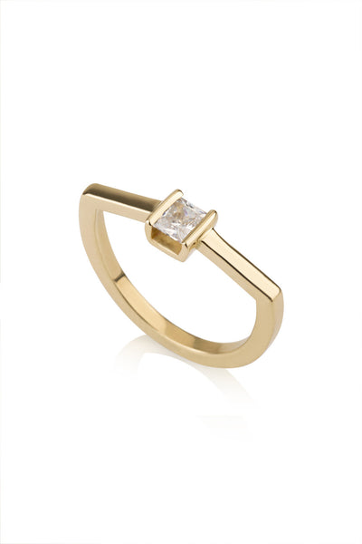 Leonie Ring / Geometric diamond Ring