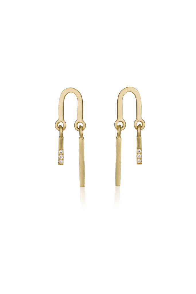 Logan earrings / 14K gold & diamond earrings