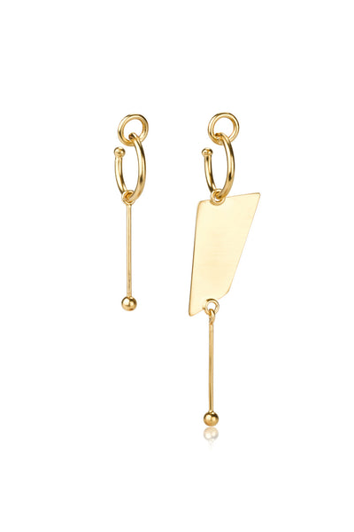 Long Tami earrings / gold plated silver