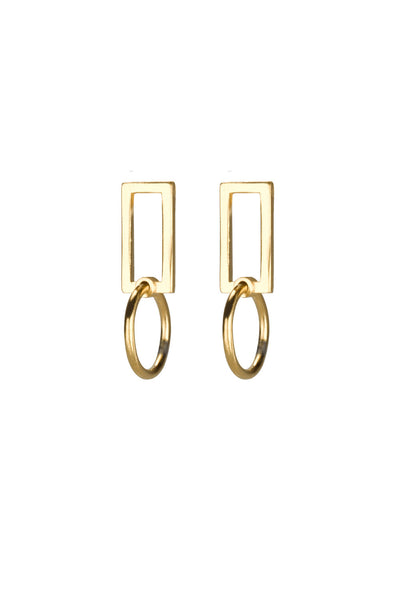 Mini Bobbi earrings / gold plated silver