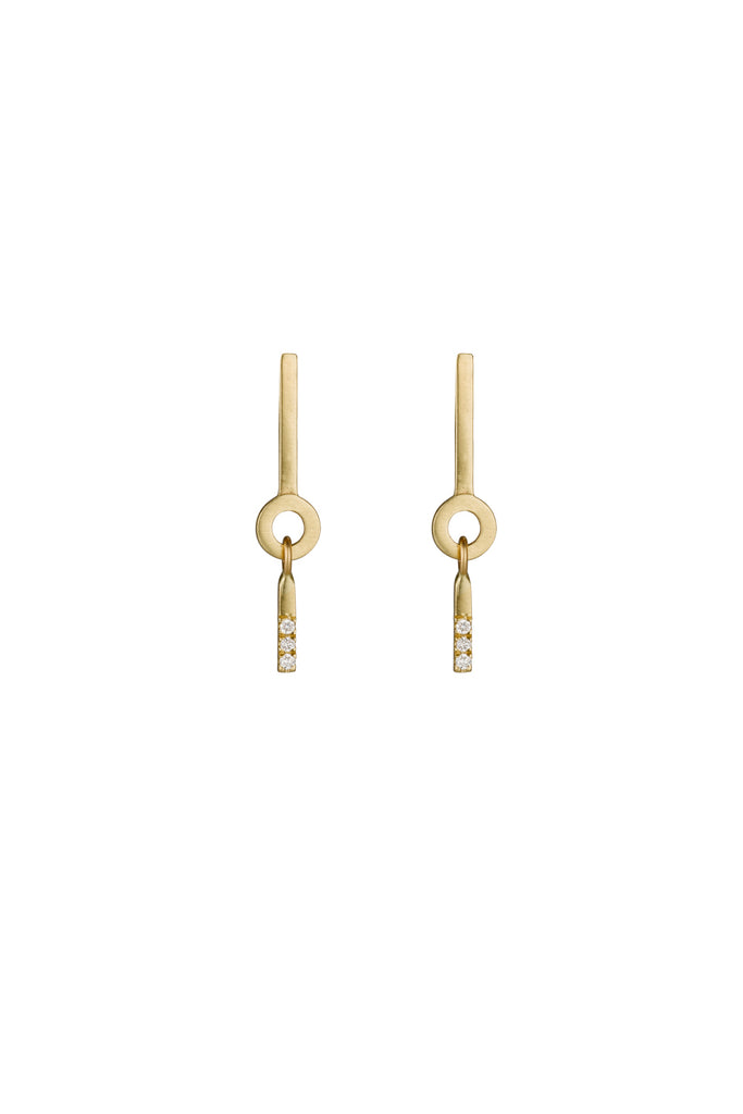Molly earrings / Dangling diamond earrings
