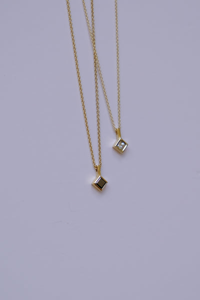 Nia princess cut diamonds necklace