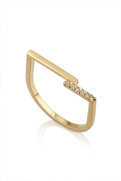 Nelly Ring / Geometric diamonds ring