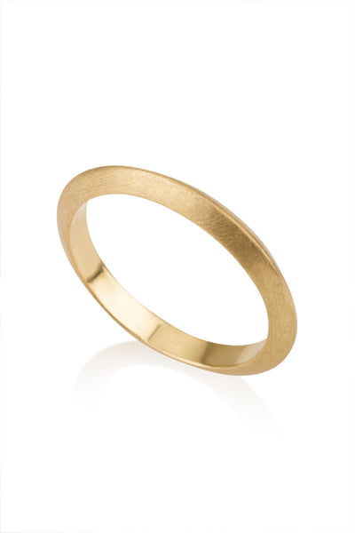 Sabo Knife edge wedding band