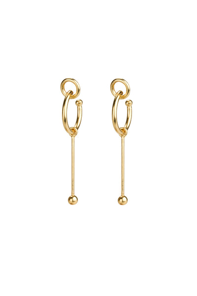 Tami earrings / gold plated silver