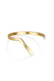 Trey cuff / gold plated silver