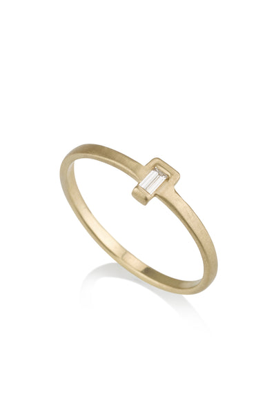 Arden Ring / baguette diamond ring