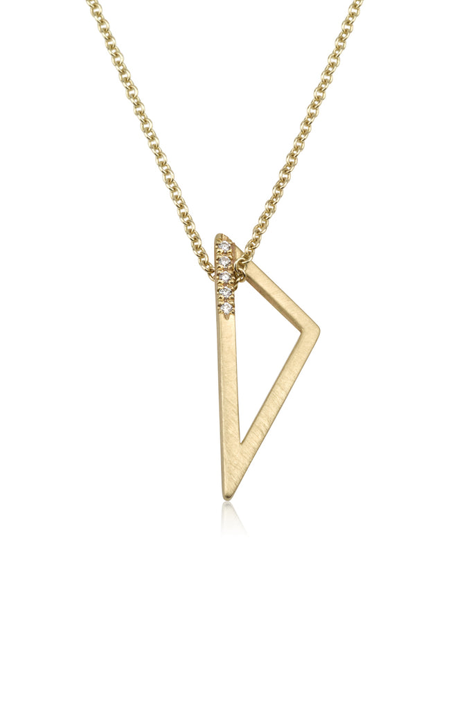 Astrid necklace / pave diamond necklace