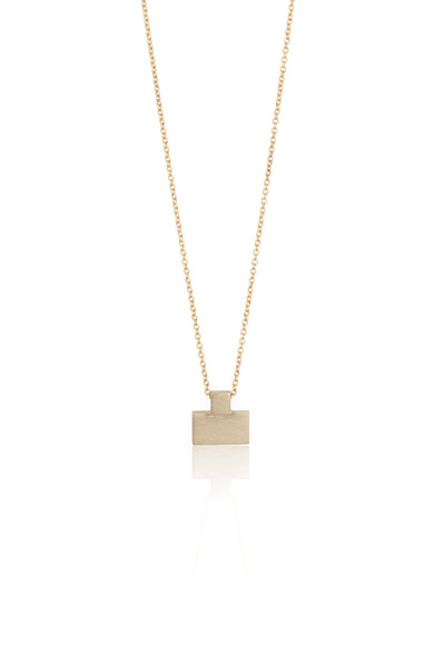Brick necklace / 14K gold necklace