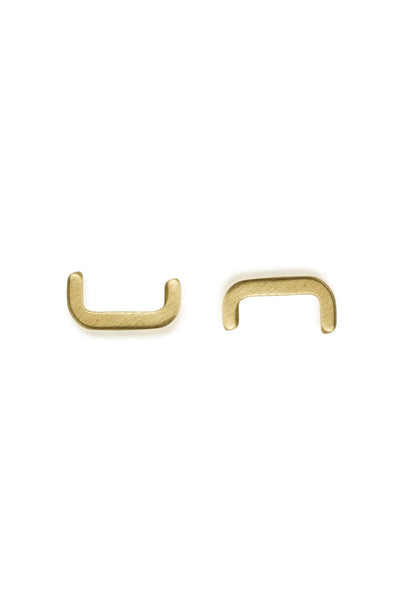 Bridge Stud Earrings / solid 14k gold