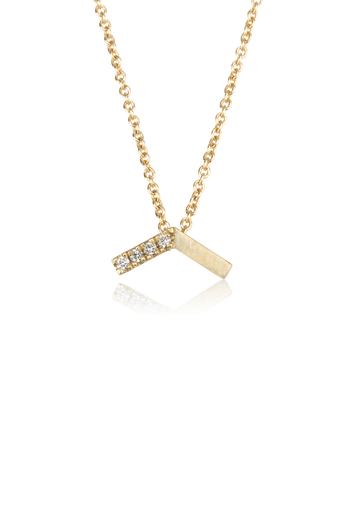 Emma necklace / pave diamond necklace