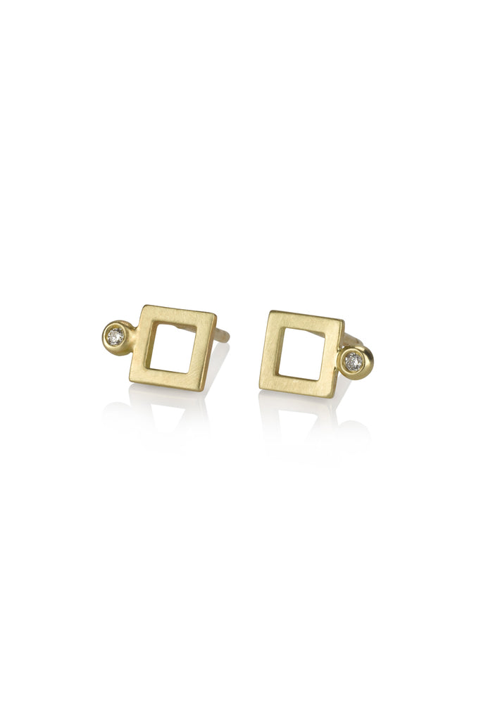 Frankie earrings / diamond stud earrings